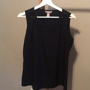 Banana Republic dark navy/black blouse